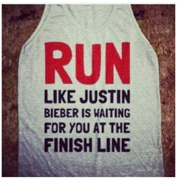 shirt justin bieber run p.e. belieber grey red black