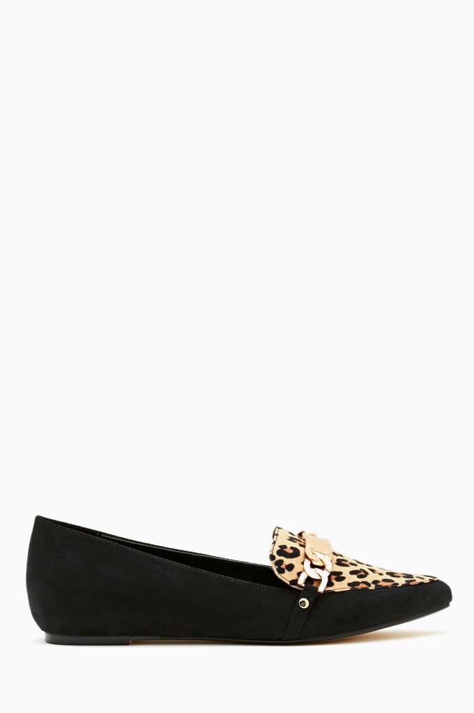 Shoe Cult Lucky Day Loafer - Leopard in  Designed By Us S4 at Nasty Gal