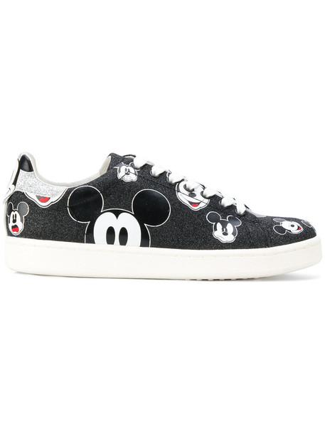 glitter disney women sneakers black shoes