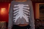 sweater,rib bones,tumblr