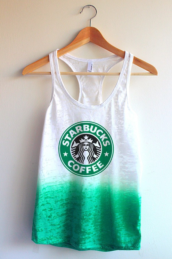 clothes ombre starbucks coffee shirt tank top
