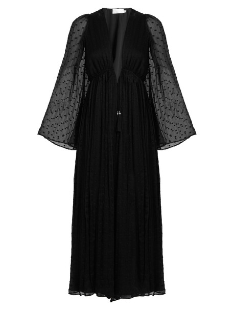4b82a462facf ZIMMERMANN Gossamer polka-dot embroidered silk jumpsuit in black ...