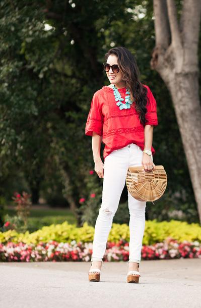 cute & little blogger jeans shoes jewels bag
