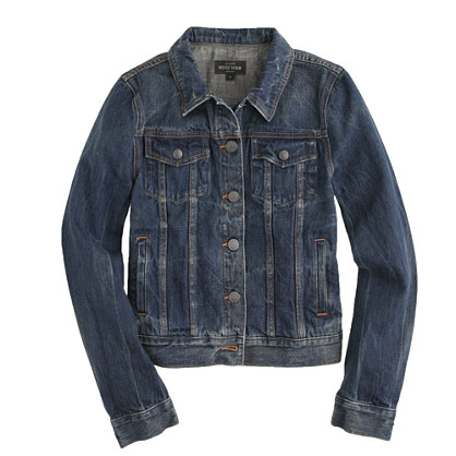 Vintage denim jacket in recycled indigo wash