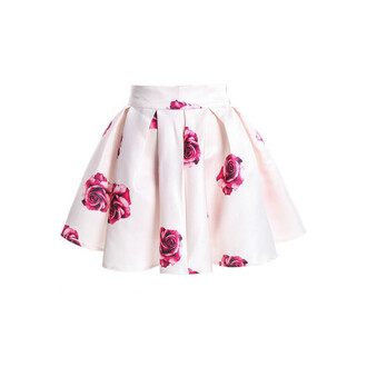 skirt floaral dress floaral skirt pink red roses shorts rose white skirt floral pink roses flared skater skirt floral skater skirt style floral skirt girly flowers high waisted skirt mini skirt pretty white flower skirt fashion cute floral skirt mini floral skit mini