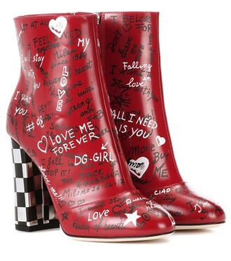 leather ankle boots boots ankle boots leather red shoes