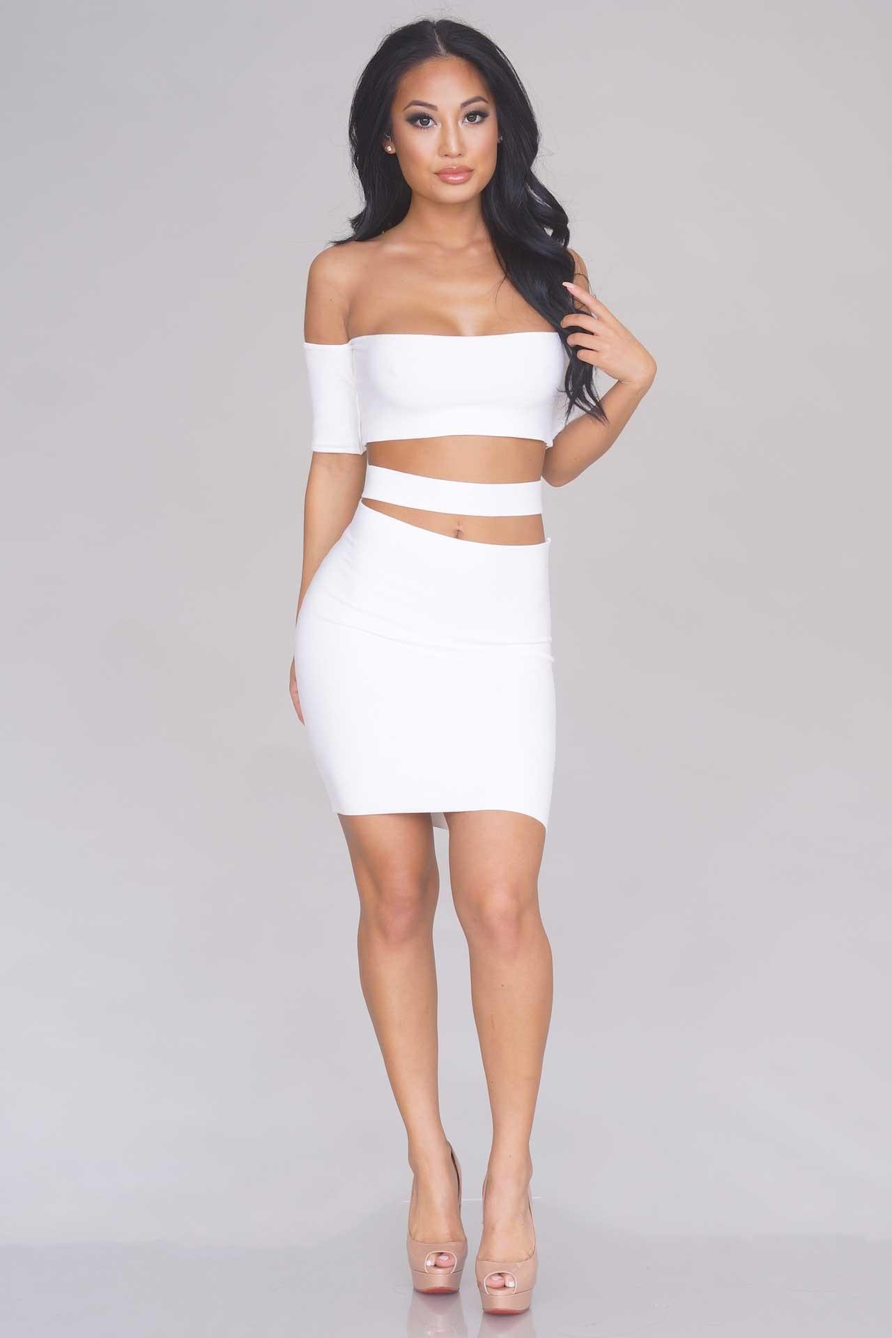 d7fbc6bd46d7 Off The Shoulder Cutout Dress – Off White