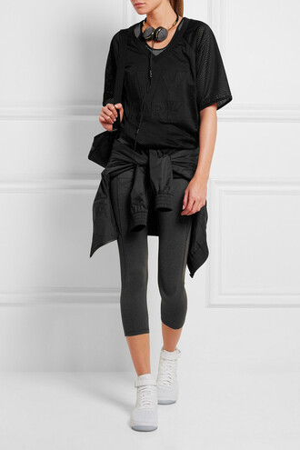 top black top sports top oversized top ivy park sportswear