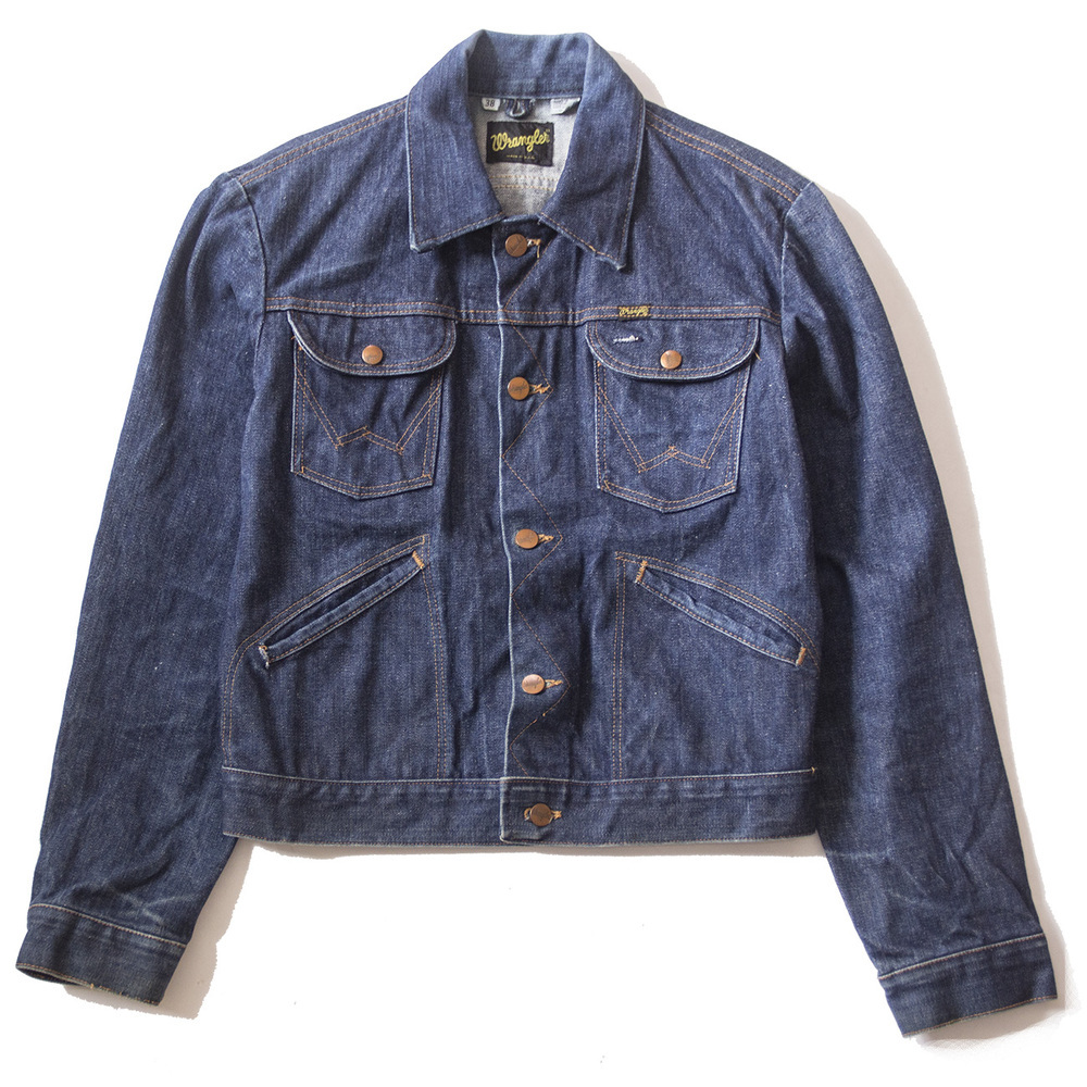 Wrangler selvedge denim trucker