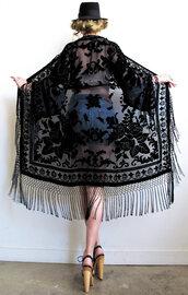jacket,kimono,fringes,joplin fringe kimono