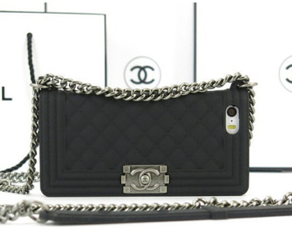phone case bag iphone 5 cases chanel boy bag silicone