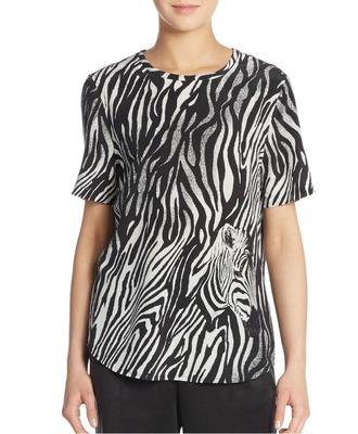 t-shirt printed t-shirt zebra animal print