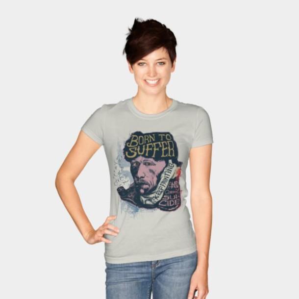 t-shirt van gogh vintage streetwear urban outfitters girls t-shirt sweater