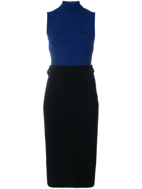 david koma dress women spandex blue