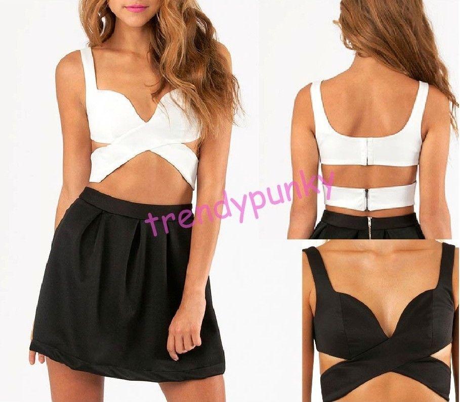 Women's Wrap Cross Over Bustier Crop Top Tank Bralet Bralette Bra Fashion Top | eBay
