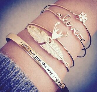 jewels bracelets gold cute girly valentines day gold jewelry love jewelry snowflake jewelry raindeer tumblr tumblr jewelry accessories crop tops dress party