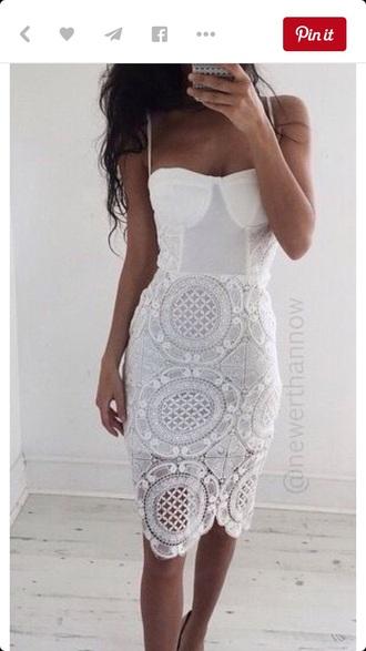 dress white love lace