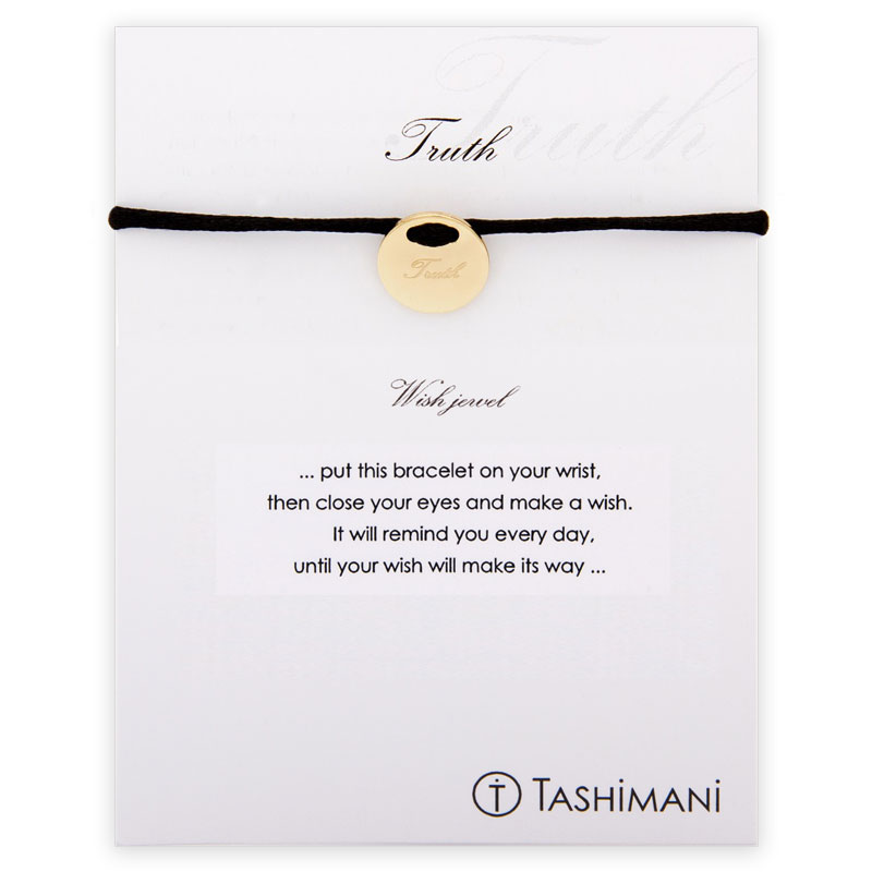 TASHIMANI-Shop.de | TASHIMANI Wish jewel - Truth Gold | schwarz | Armbänder