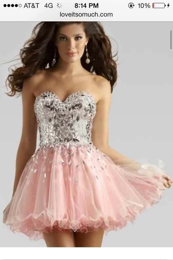 d0ad5fe6abd dress pink dress gemstone sparkly dress glitter homecoming dress homecoming  formal formal dress pink formal dress