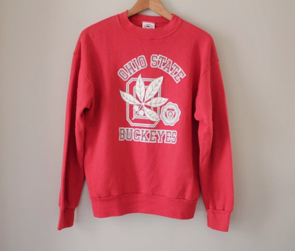 red sweater vintage college sweater Boys crewneck american Usa vintage pullover