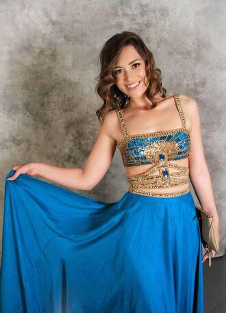 dress top dres tube top skirt maxi skirt blue crystals bling-bling bosnian prom dress prom tube clothes elegant unique
