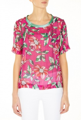 Ostwald Helgason | Day Tops Printed Silk Top by Ostwald Helgason