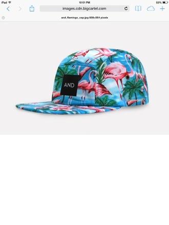 hat flamingo floral flamingo