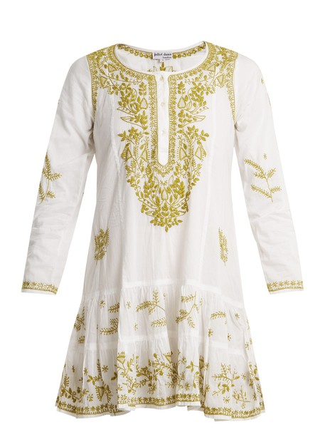 Juliet Dunn dress embroidered cotton white