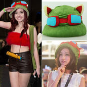 gorro captain teemo,gorro captain teemo cap,teemo captain hat,gorro teemo,funny,league of legends lol teemo,league of legends,cosplay hat,league of legends copslay,cosplay