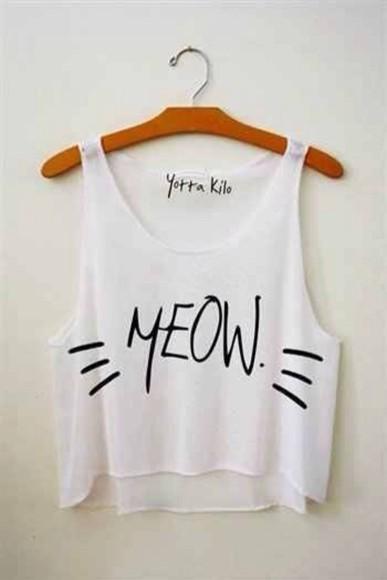 white shirt weheartit white tank top top t-shirt meow white tank top cats cute bob marley infinite i like cats shirt