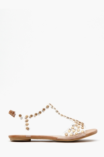Puffer Studded Sandal  in  Shoes at Nasty Gal