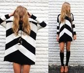 sweater,cheveron,cute,sweater dress