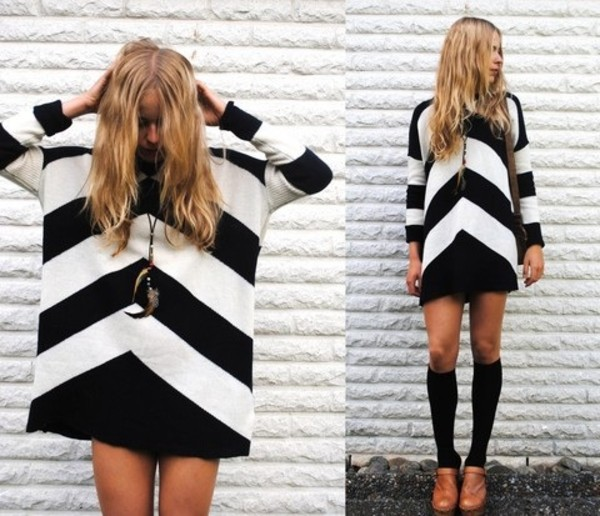 sweater cheveron cute sweater dress