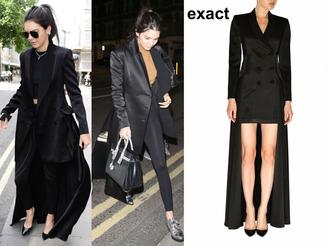 coat jacket black dress kendall jenner