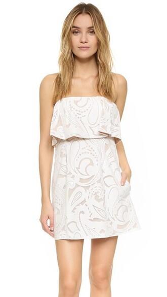 dress strapless dress strapless white