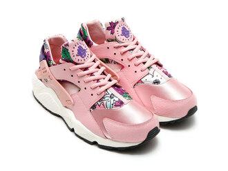 shoes floral aloah huarache nike rose pink nike trainers sneakers sneakerhead