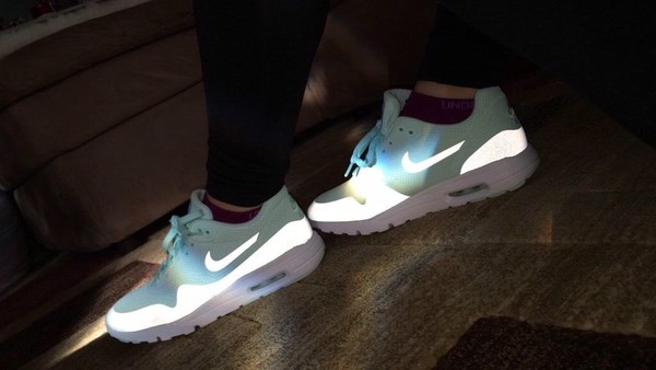Shoes Blue Nike Light Shiny Cute Love Nike Running Shoes Nike Shoes Nike Air Nike Free
