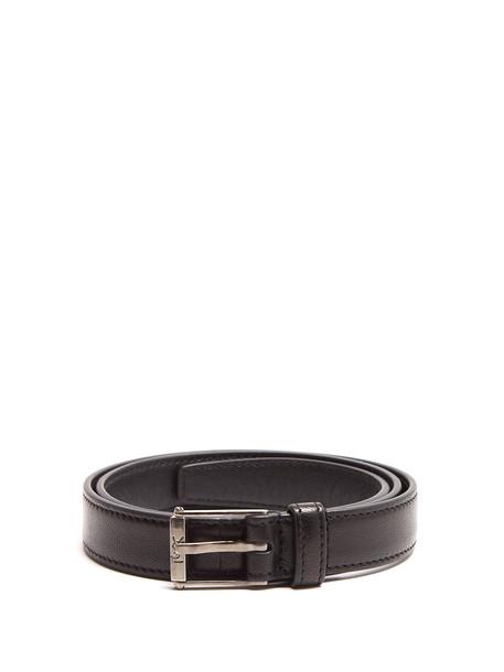 Saint Laurent belt leather black
