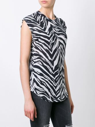 t-shirt iro printed t-shirt zebra animal print