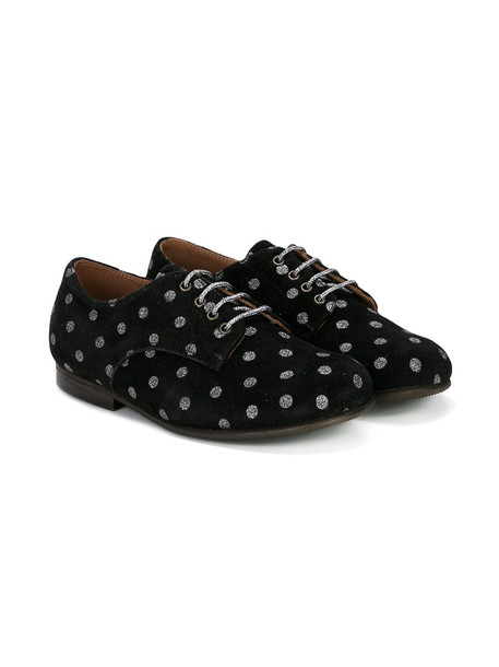 shoes lace-up shoes lace leather suede black pattern
