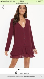 dress,red
