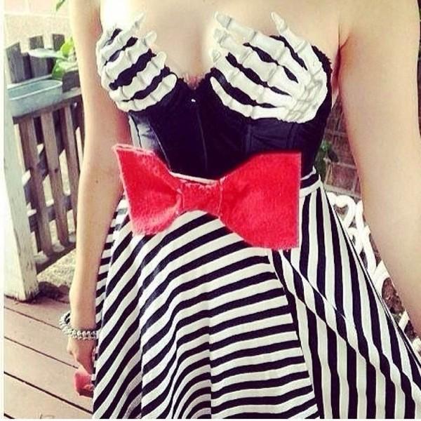 dress halloween costume halloween corset striped dress