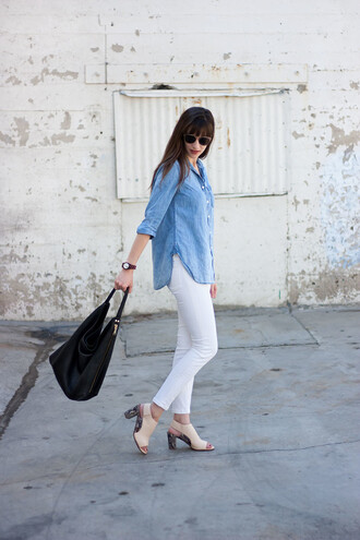 jeans and a teacup blogger shirt bag sunglasses shoes jewels