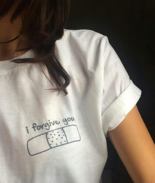 I Forgive You Bandage T-shirt & Tank Top | Kiss Me Bang Bang