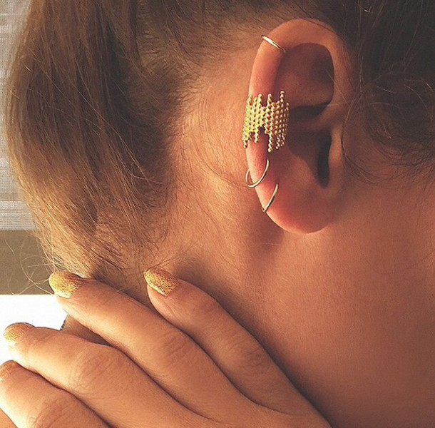 jewels ear cuff gold gold ear cuff net-a-porter earrings gold ear cuffs
