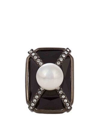 embellished ring black jewels