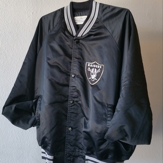 jacket black raiders sportswear retro