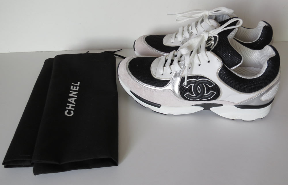 chanel tennis shoes.