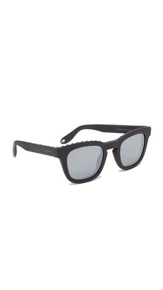 studded sunglasses mirrored sunglasses black