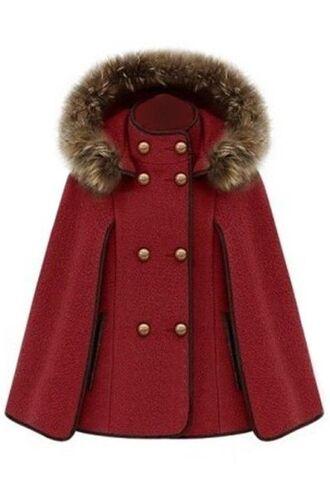 coat red cape red coat cape coat hooded cape detachable hood www.ustrendy.com